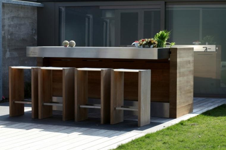 diseño de cocinas ideas mesas altas materiales