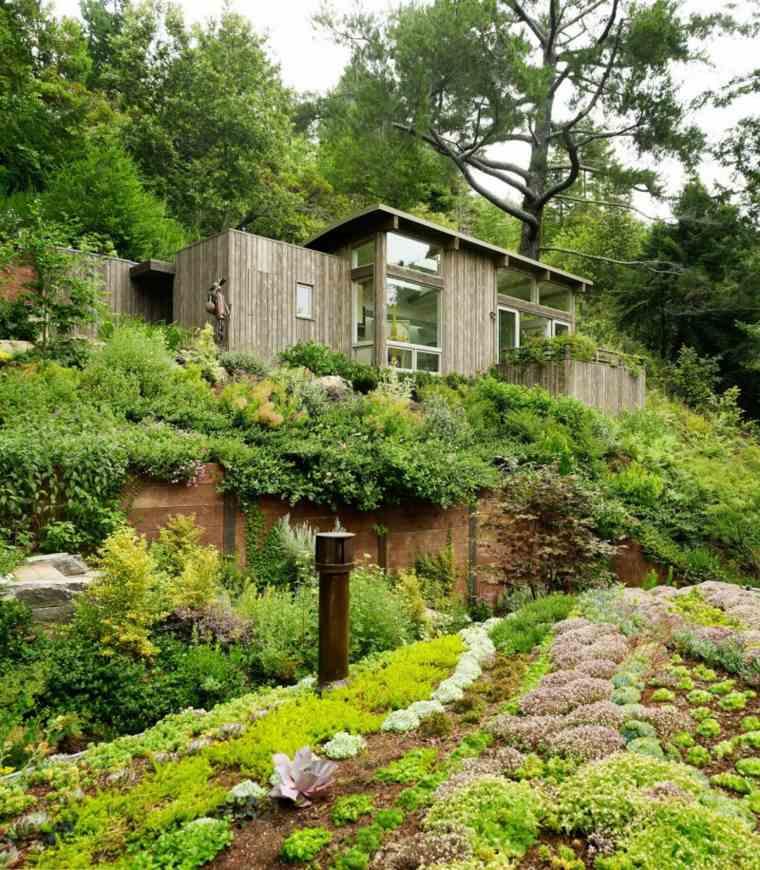 cabaña lujosa bosque