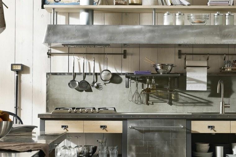 diseno cocina idustrial vintage estilo opciones originales ideas