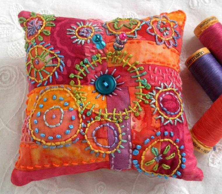 decoración cojín patchwork