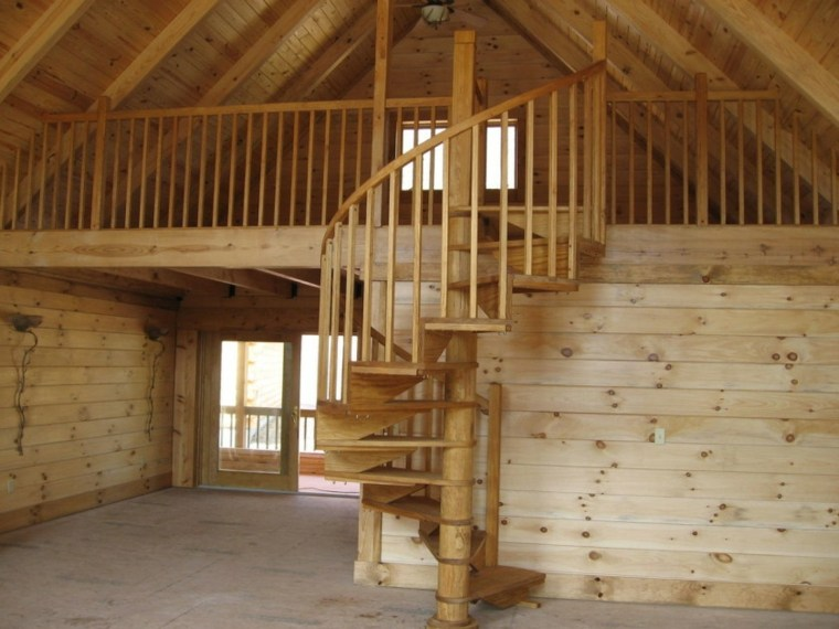 Escaleras rústicas de piedra y madera - 34 diseños ...