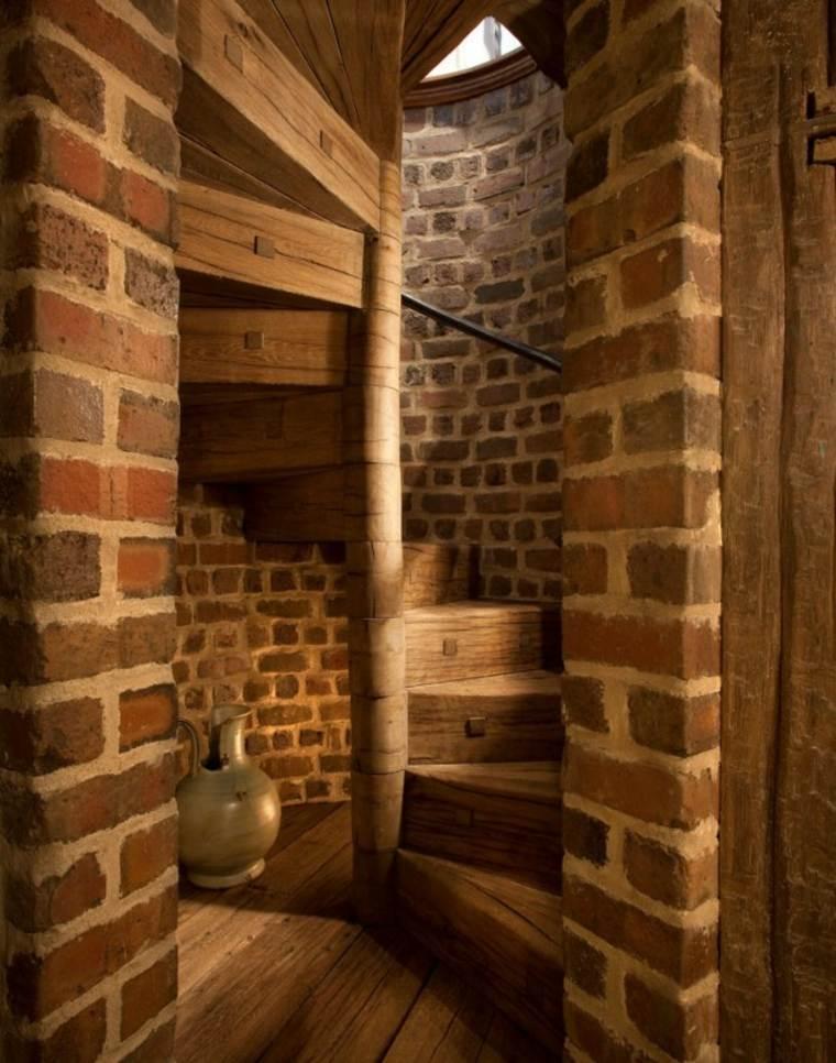 Escaleras r sticas de piedra y madera 34 dise os for Escaleras interiores casas rusticas