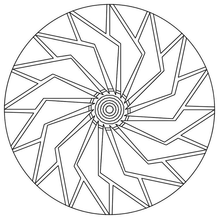 plantilla Mandala rueda