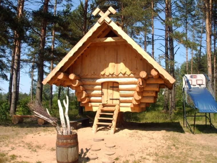 cabaña madera natural