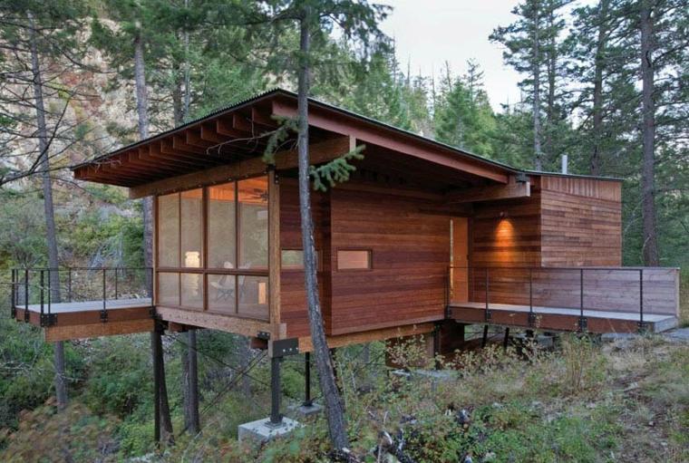 preciosa cabaña moderna