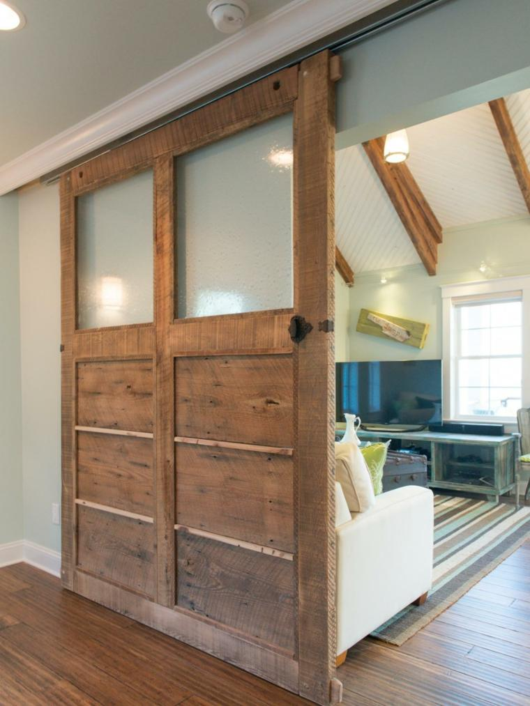 Puertas correderas para optimizar espacios peque os - Disenos de salones pequenos ...
