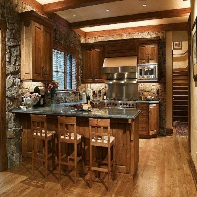Kitchen Plans For Small Houses: Descubre Las Tendencias En Piedra Y Madera