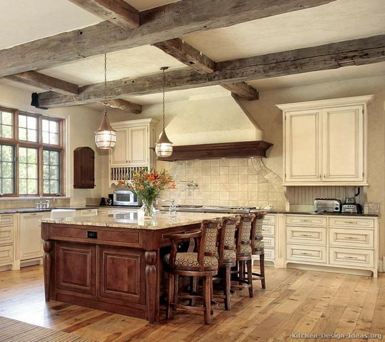 Cocinas r sticas descubre las tendencias en piedra y madera - Cocinas rusticas de mamposteria ...