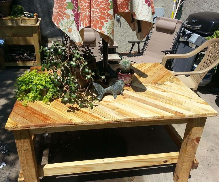 diseño mesa palet madera