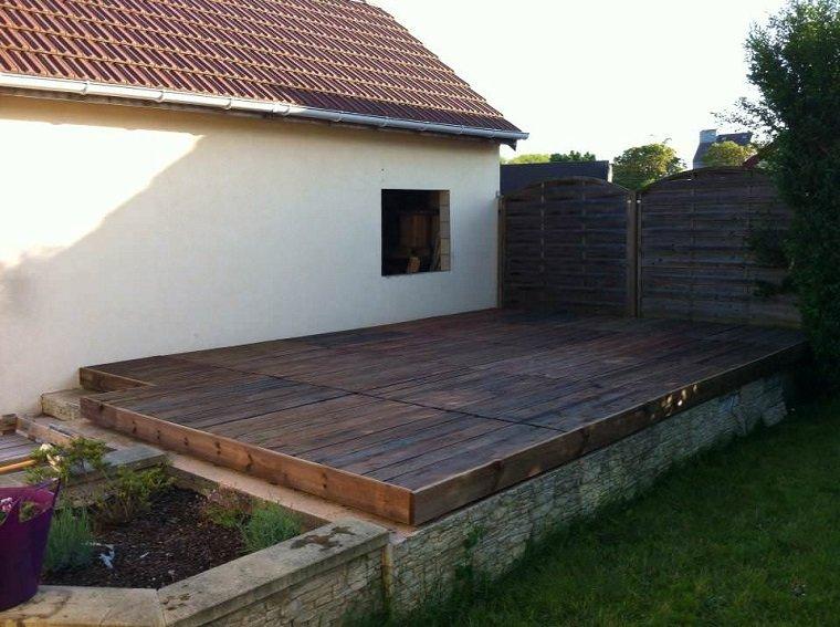 plataforma jardín madera