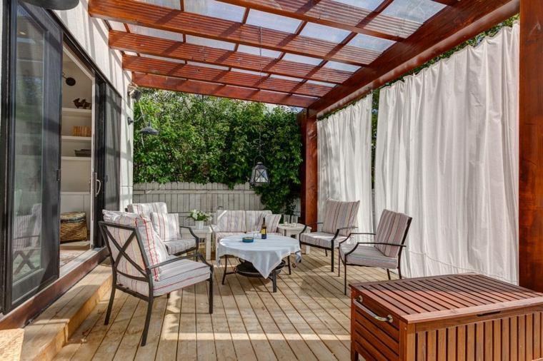 Cortinas para terrazas modernas las ltimas tendencias - Cortinas para porche exterior ...