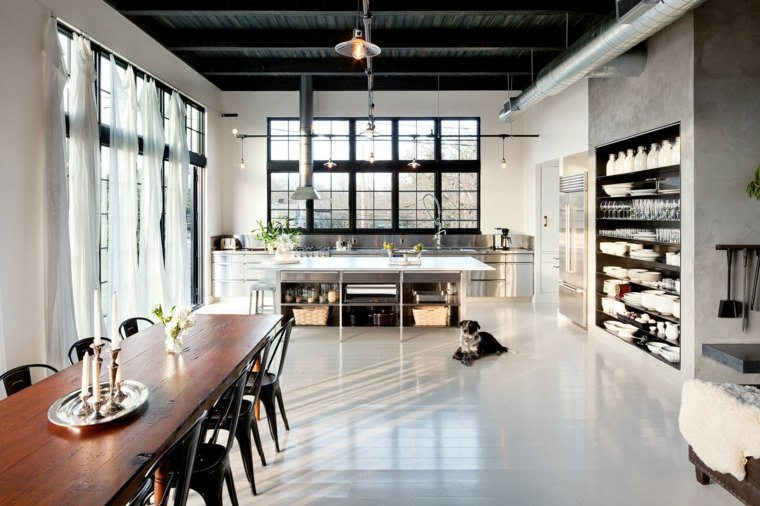 disenos de cocinas estilo industrial Emerick Architects ideas