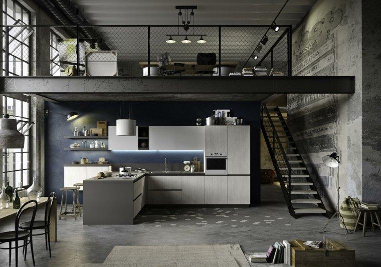 dise os de cocinas estilo industrial elegante y atractivo. Black Bedroom Furniture Sets. Home Design Ideas