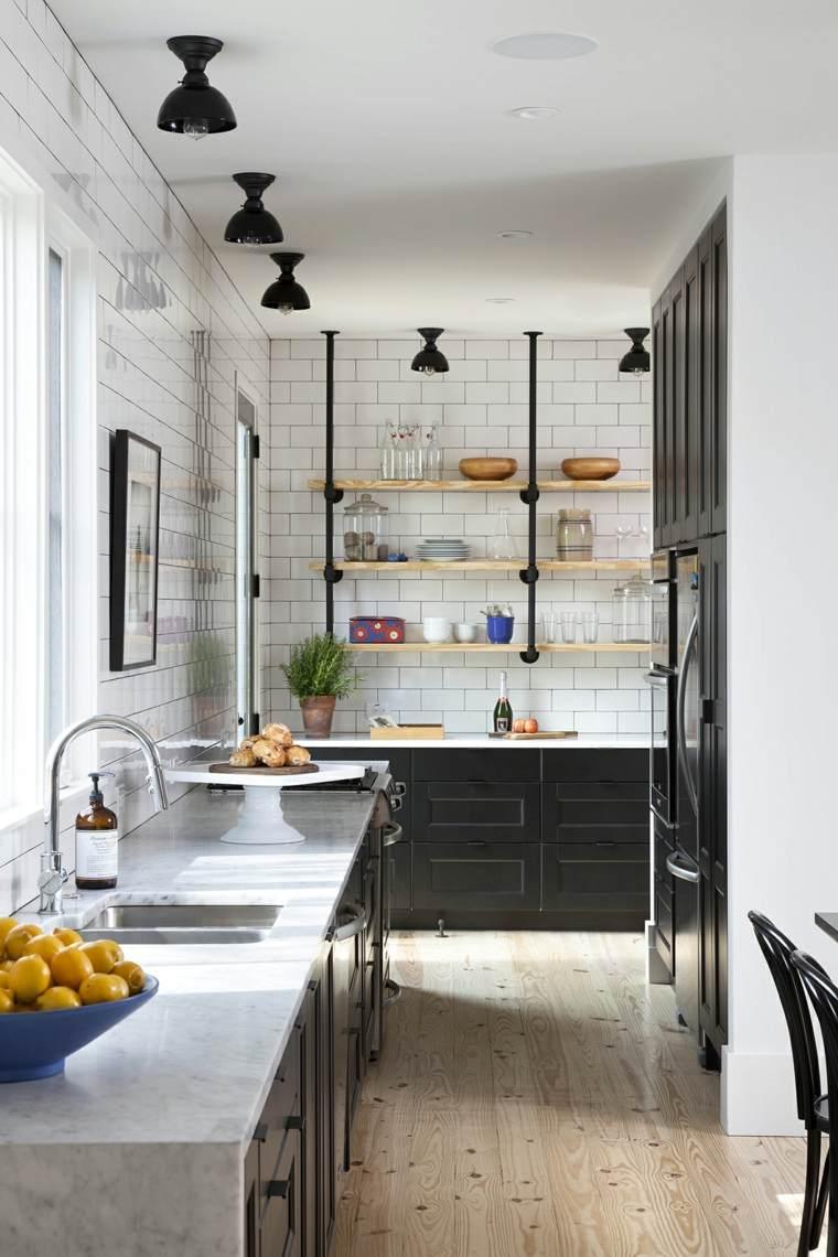 disenos de cocinas estilo industrial simple moderno ideas