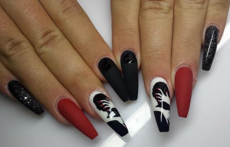 diseños de uñas largas