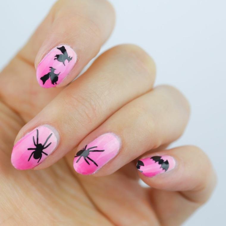 diseños de uñas modernos coloridos