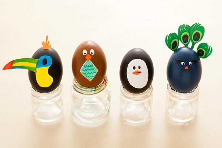 como decorar un huevo
