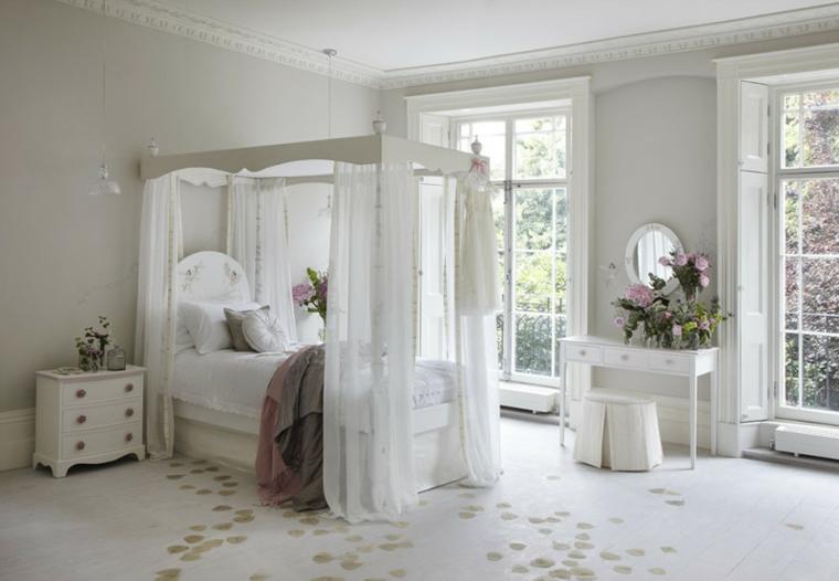 dormitorio infantil rosa victoriano cuentas