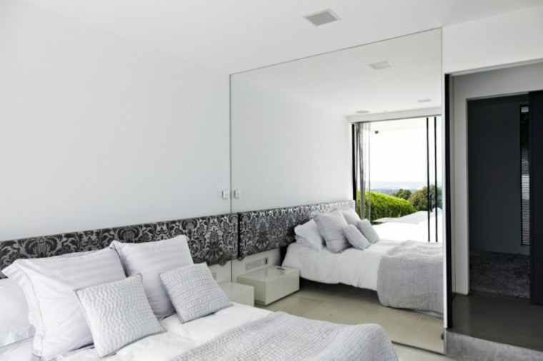 dormitorios espejos blanco cojines salas colores