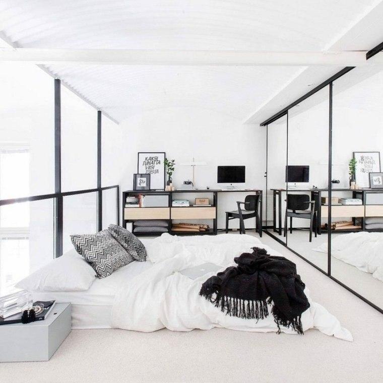 dormitorios espejos closet estilos modernos