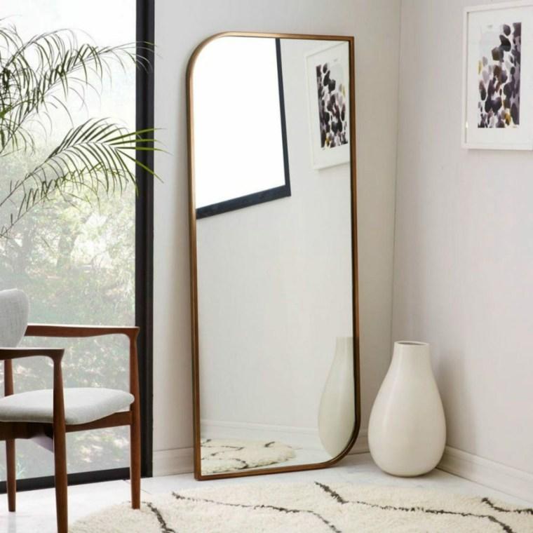 dormitorios espejos madera casas conceptos ideas