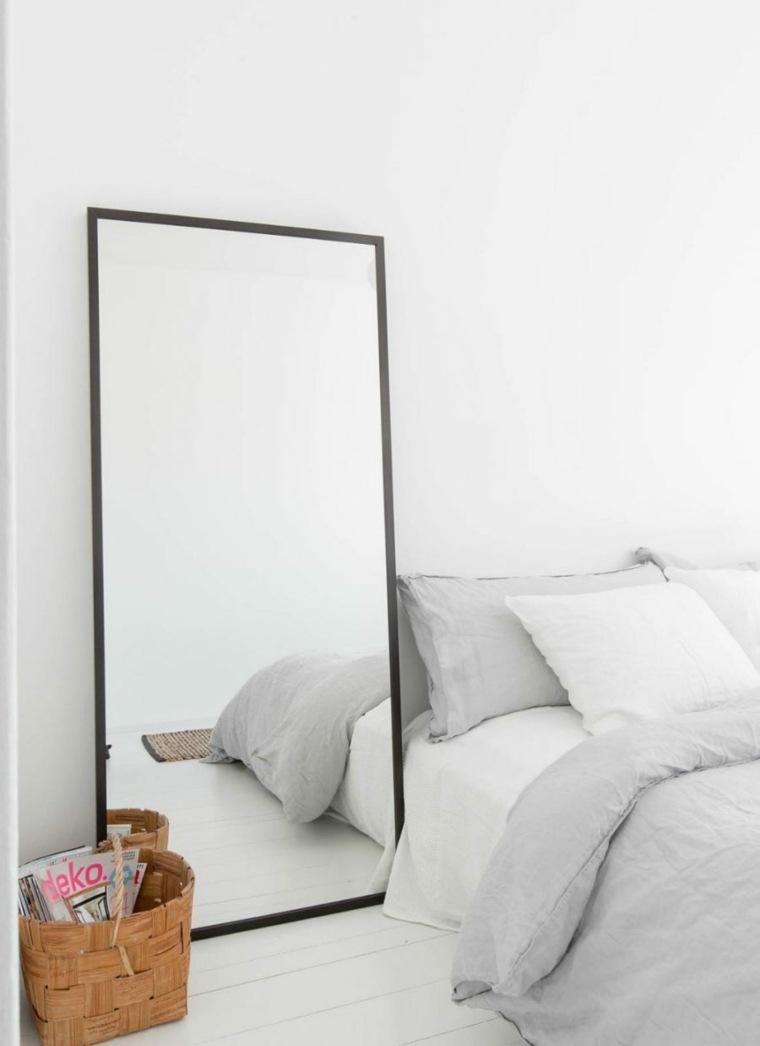 dormitorios espejos minimalista canastas materiales