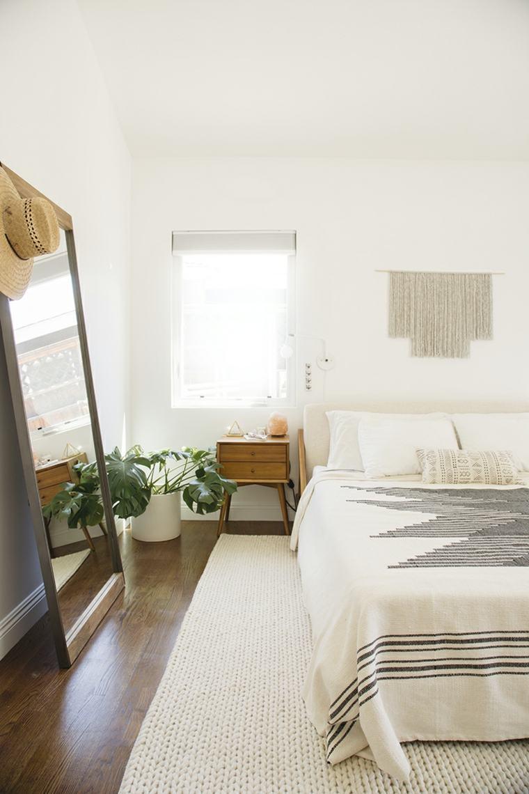 dormitorios espejos plantas conceptos materiales