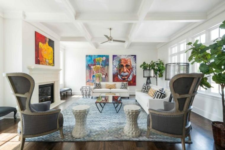 eclectico espacio elegante color blanco lineas