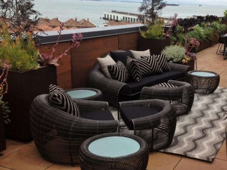 efecto elegante alfombra suelos mesas modernas