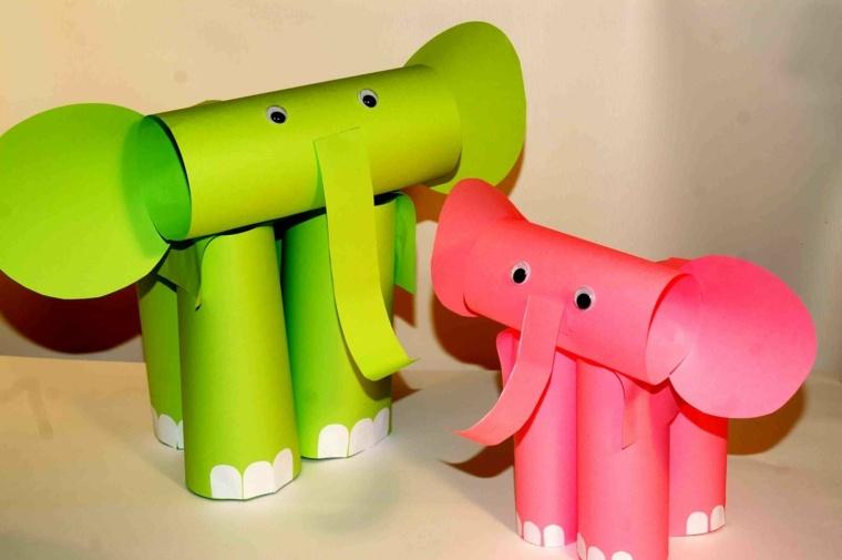 manualidades para niños diseño elefantes muestras colores ideas