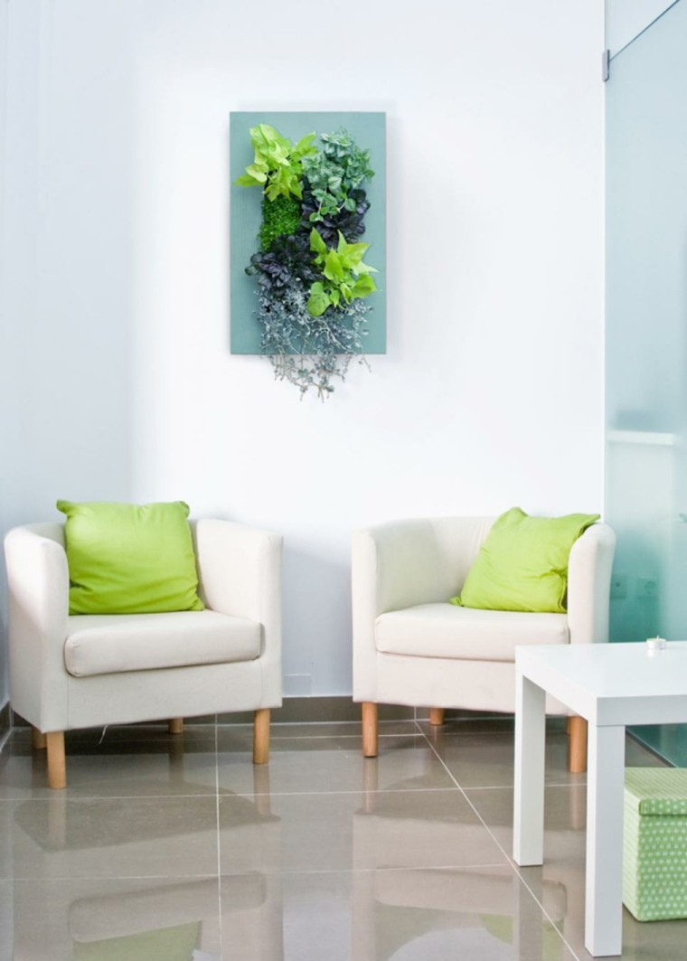enmarcado perfecto especiales salone cojines verdes