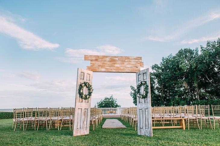 entrada ceremonia estilo rustico opciones ideas