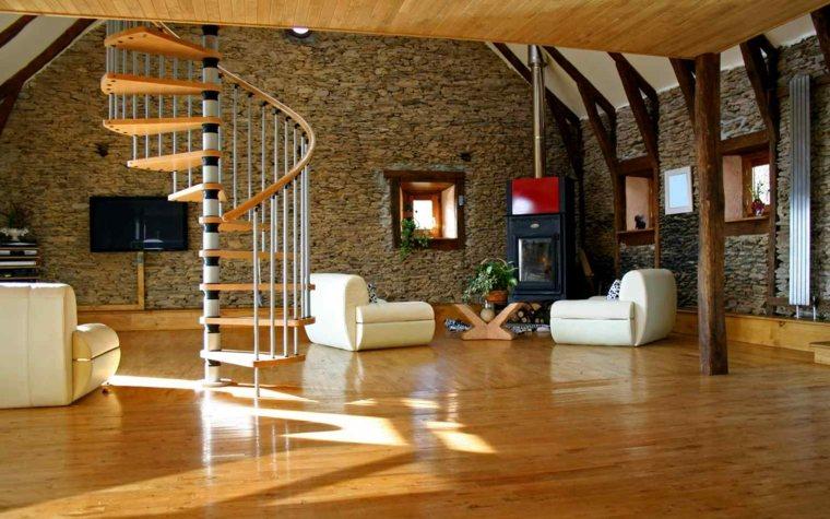 Escaleras de interior modernas 40 ideas para elevar el - Como subir muebles por escalera caracol ...