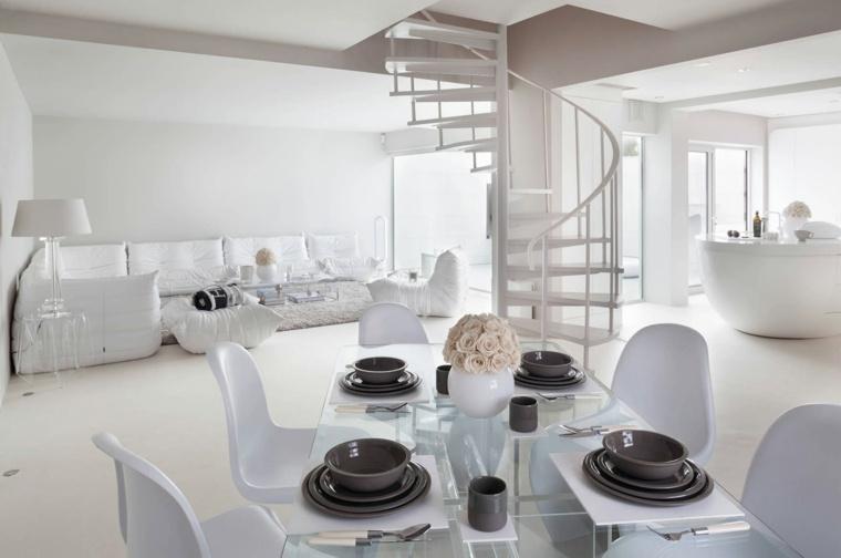 escaleras de interior modernas casa diseno blanco ideas