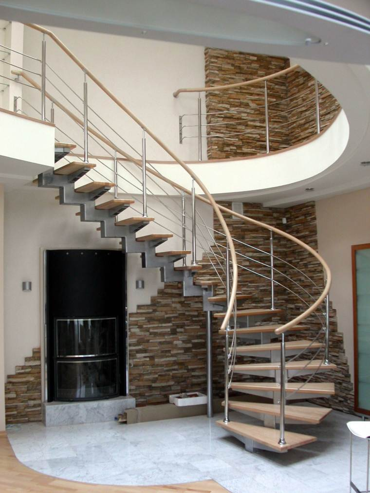 Escaleras de interior modernas 40 ideas para elevar el for Colores de granito para escaleras