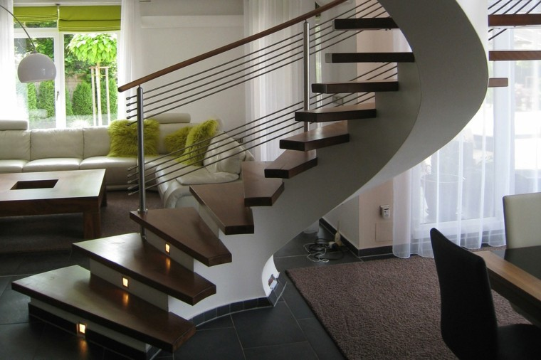 Escaleras De Interior Modernas 40 Ideas Para Elevar El Estilo De