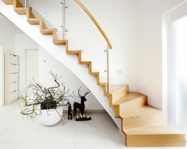 Escaleras de interior modernas 40 ideas para elevar el - Escaleras diseno interior ...