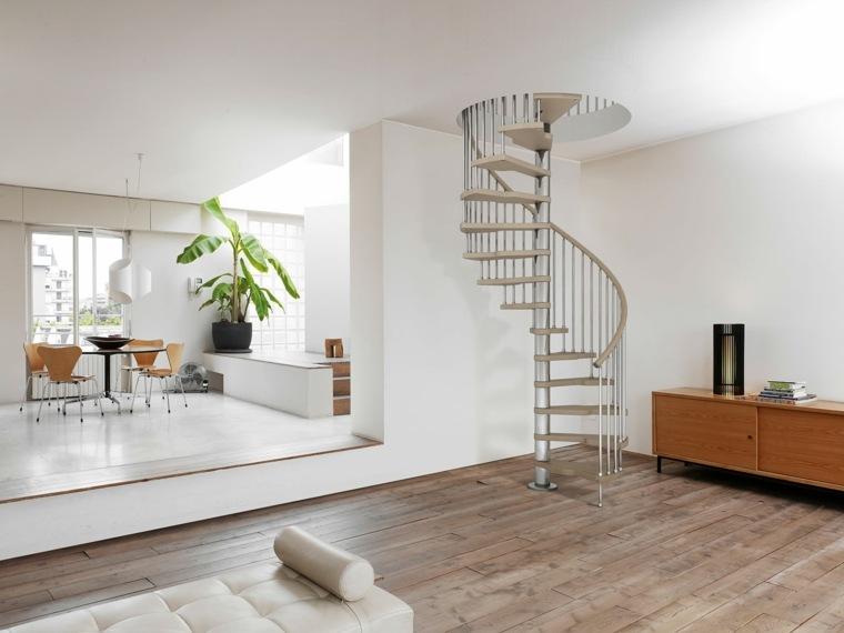 escaleras de interior modernas diseno simple caracol ideas