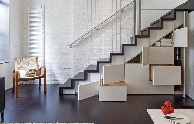 Escaleras de interior modernas 40 ideas para elevar el for Escaleras interiores de casas pequenas