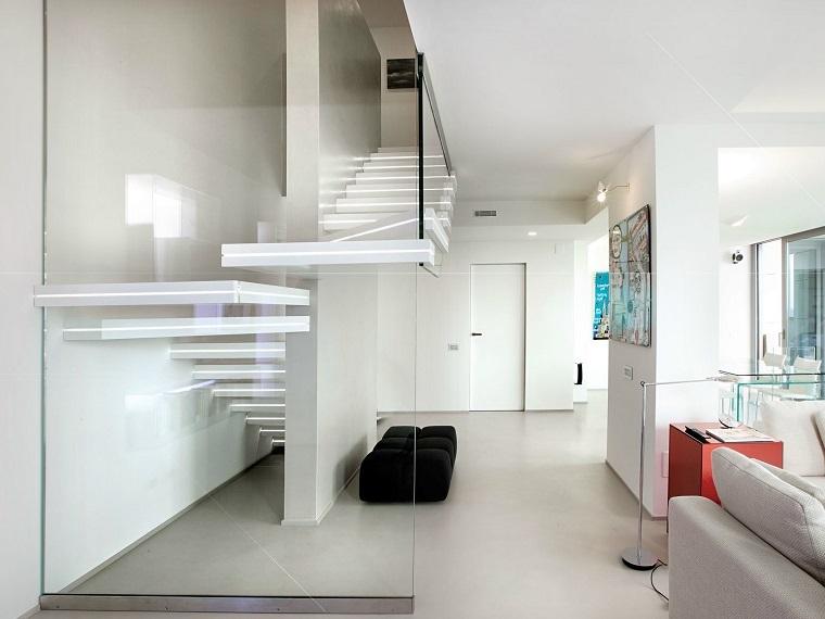 escaleras de interior modernas estilo blanco diseno ideas