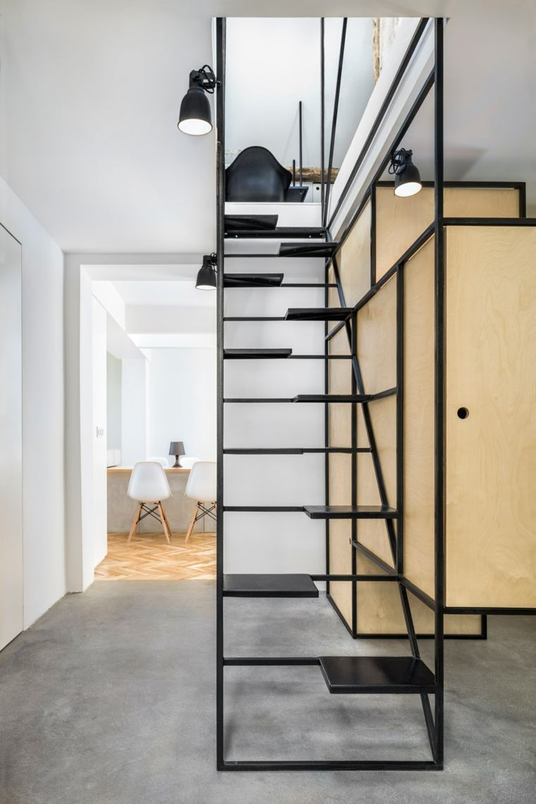 Escaleras de interior modernas 40 ideas para elevar el for Gradas de escaleras