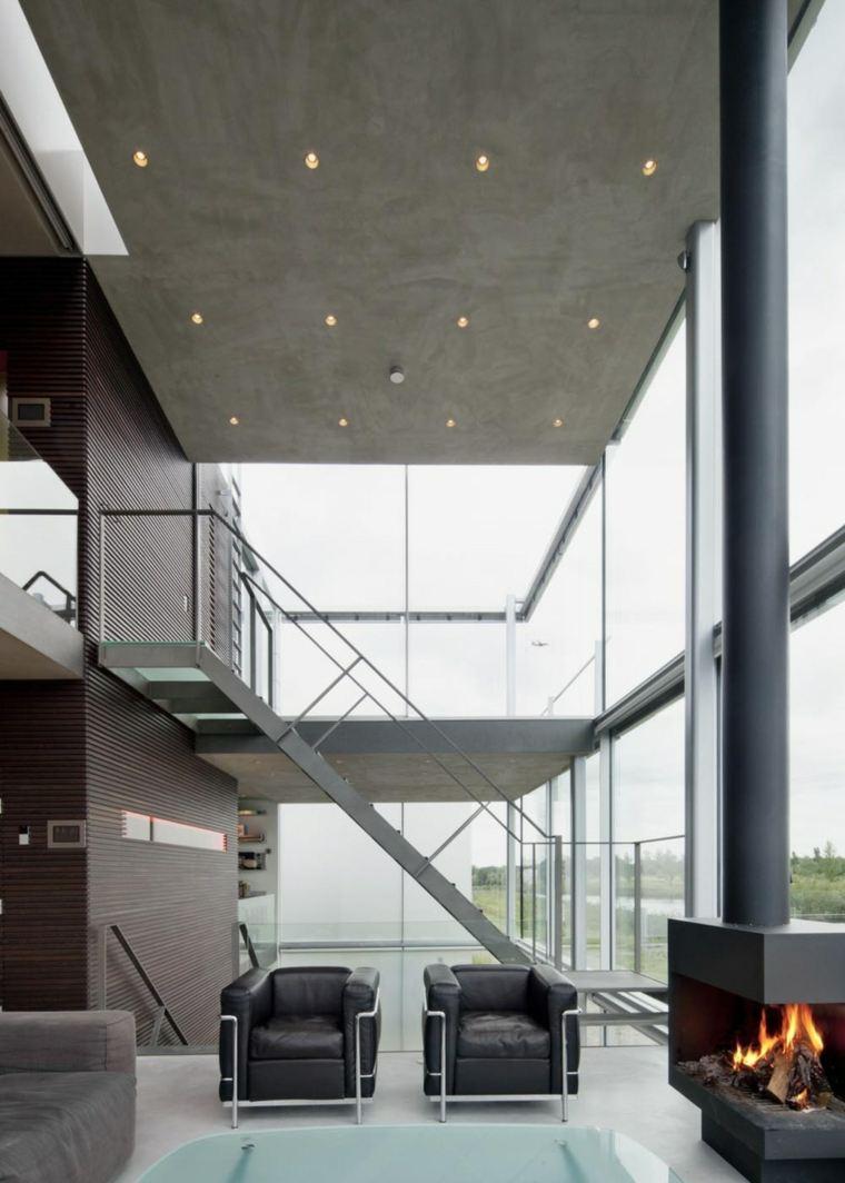 Escaleras de interior modernas 40 ideas para elevar el - Escaleras de techo ...