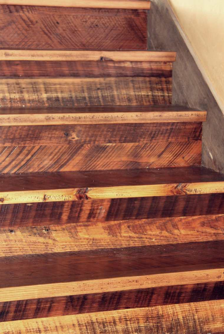 escaleras diseño rustico madera