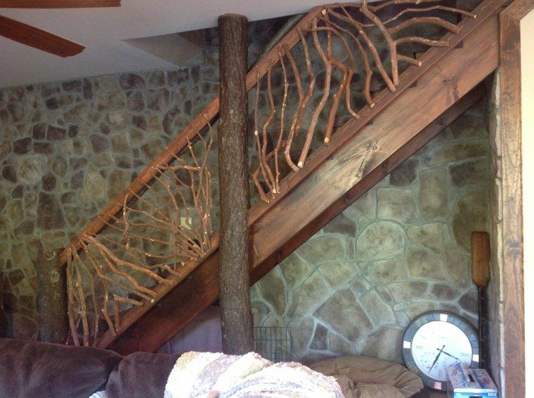 Escaleras r sticas de piedra y madera 34 dise os - Precios barandillas de madera ...
