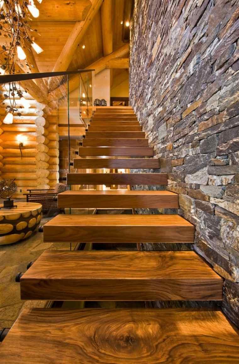 escaleras rústicas estilo moderno