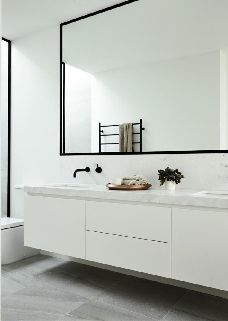 espejo baño decorar pared