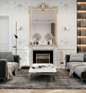 Decoraci n minimalista para el recibidor for Espejo salon grande
