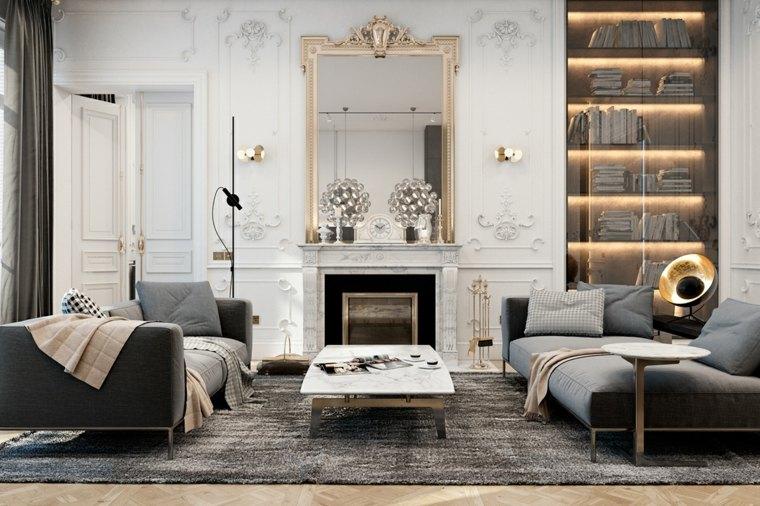 Decoraci n de interiores 42 ideas para personalizar la for Espejo salon grande