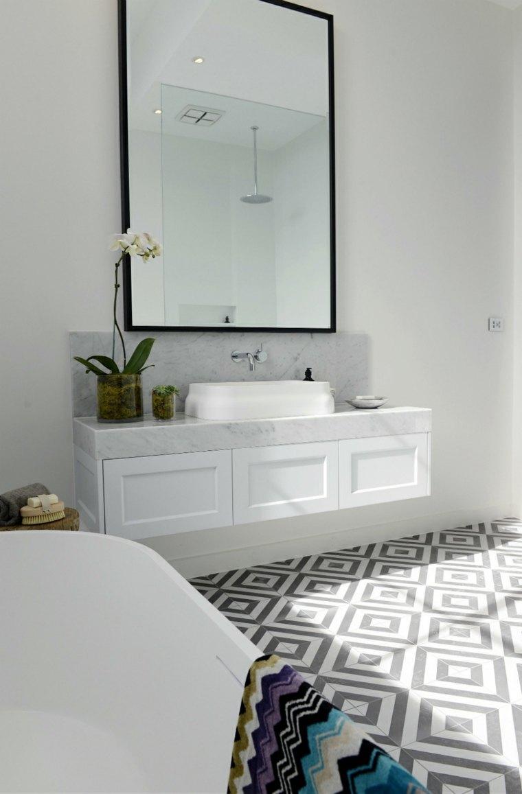 espejos baño decorar pared