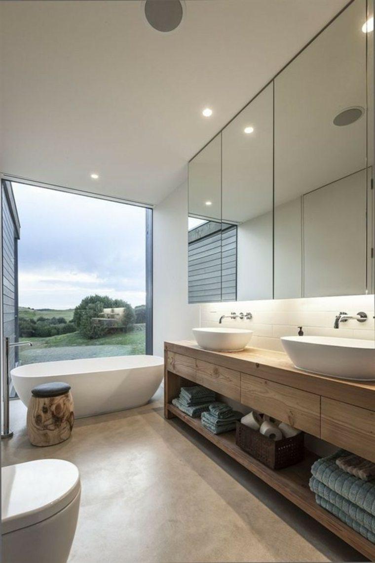 espejos de baño decoración interiores